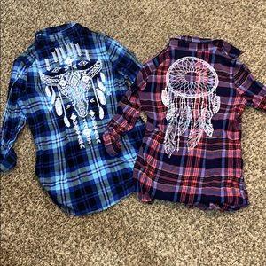 Derek Heart Plaid Fall Shirts